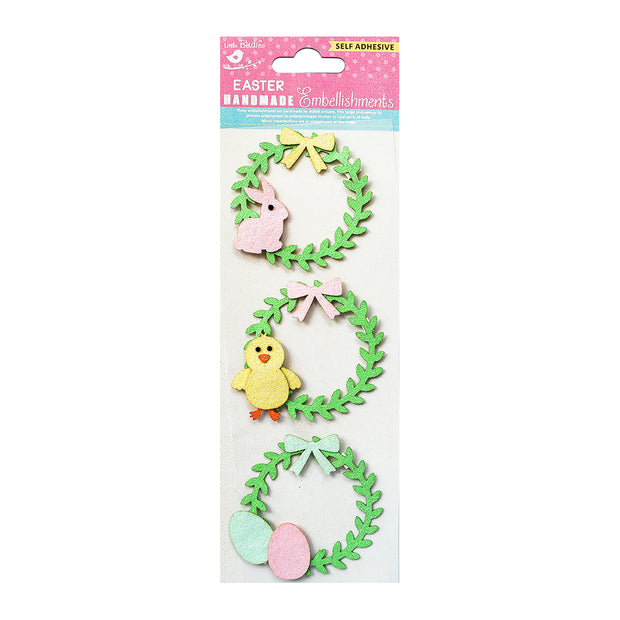 Glitter Easter Wreath 3pc