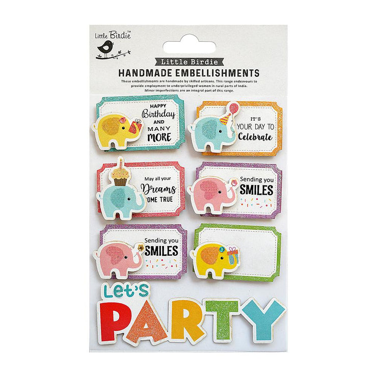 Birthday Party Embellishment - 7pc