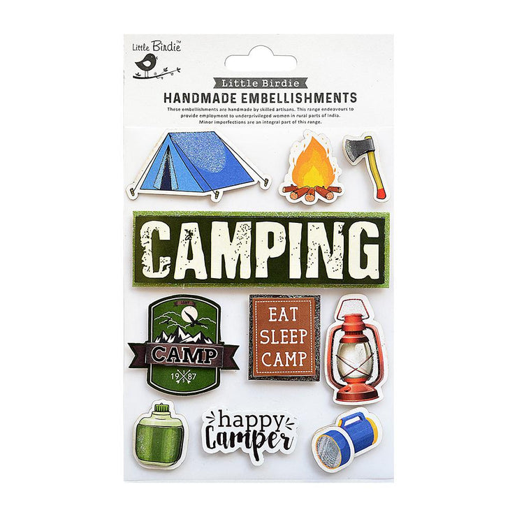Sticker - Happy Camper 10pc