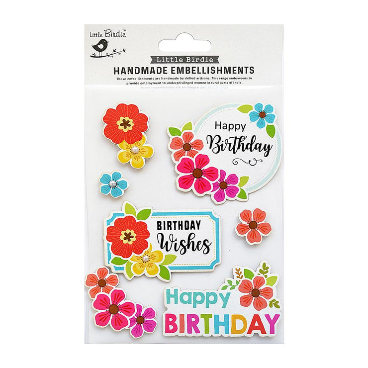 Birthday Wishes Embellishments 7pc