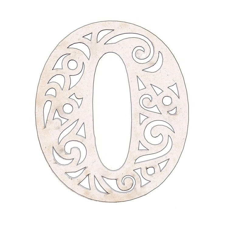 Primed Chipboard Ornate Number 0 1pc
