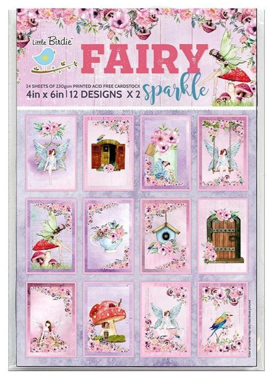 "Fairy Sparkle Journaling Cards - 4""x6"", 24sheets, 250gsm"