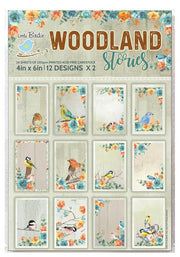 Journaling Cards 4in x 6in 12desx2 Woodland Stories 24sheets