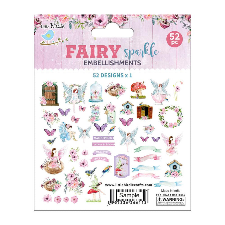 Ephemera Fairy Sparkle Embellishments 52pc