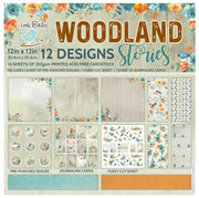 Paper Pack Woodland Stories- 12in x 12in, 12sheets, 12Designs, 250gsm