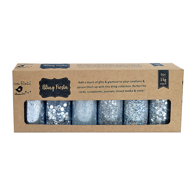 Bling Fiesta- Silver, 15gm Each, 6pc