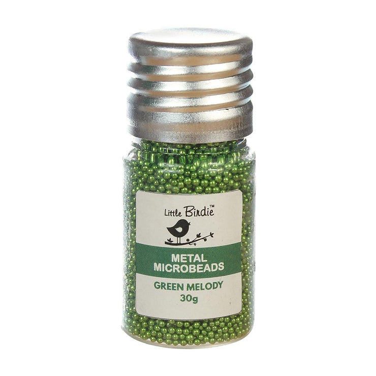 Metal Microbeads- Green Melody, 30g