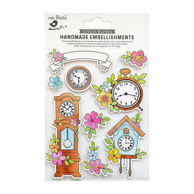 Floral Hours Collection Embellishment - 9pc