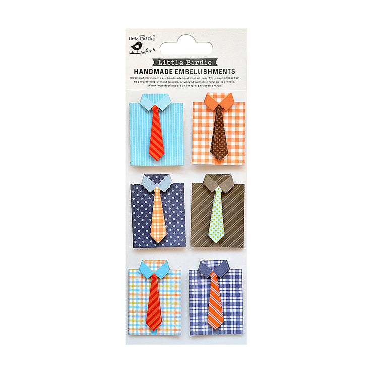 Self Adhesive Sticker - Smart Shirts 6pc
