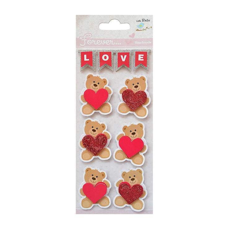 Embellishments - Teddy Love, 7pc