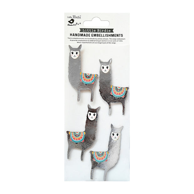 Self Adhesive Stickers - Lovable Lamas 4pc