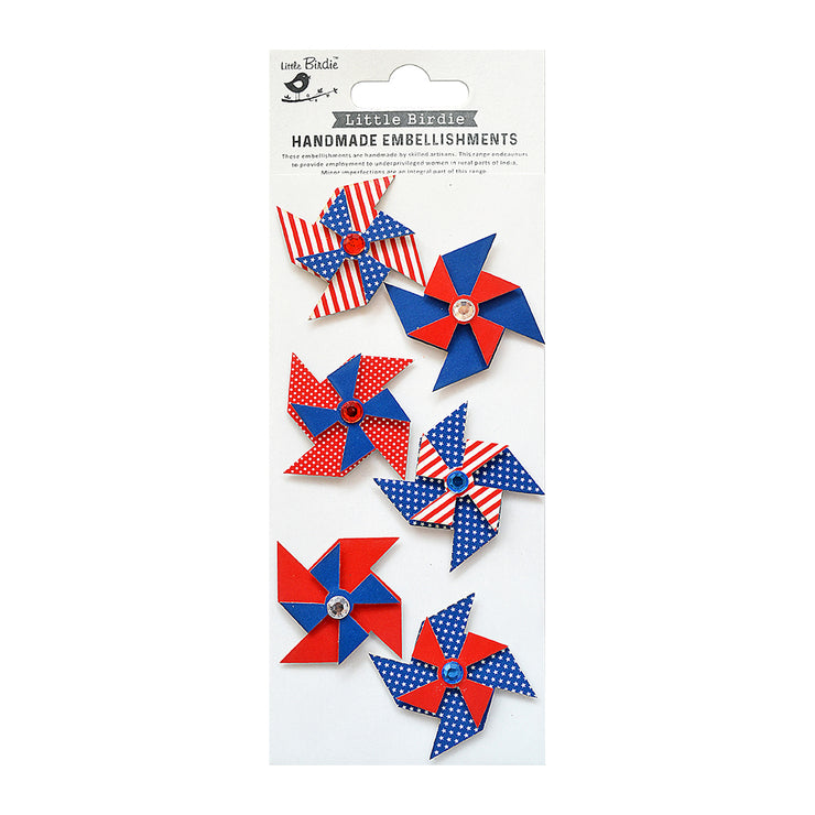 Self Adhesive Stickers - Old Glory 6pc
