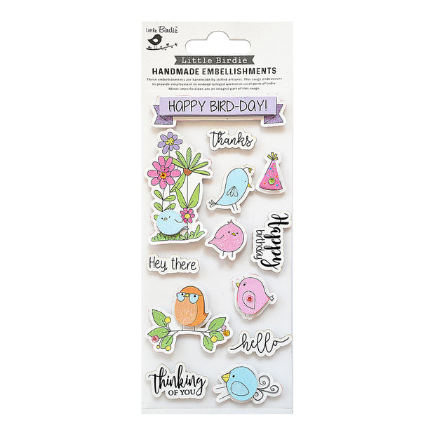 Self Adhesive Stickers - Happy Bird - Day 13pc