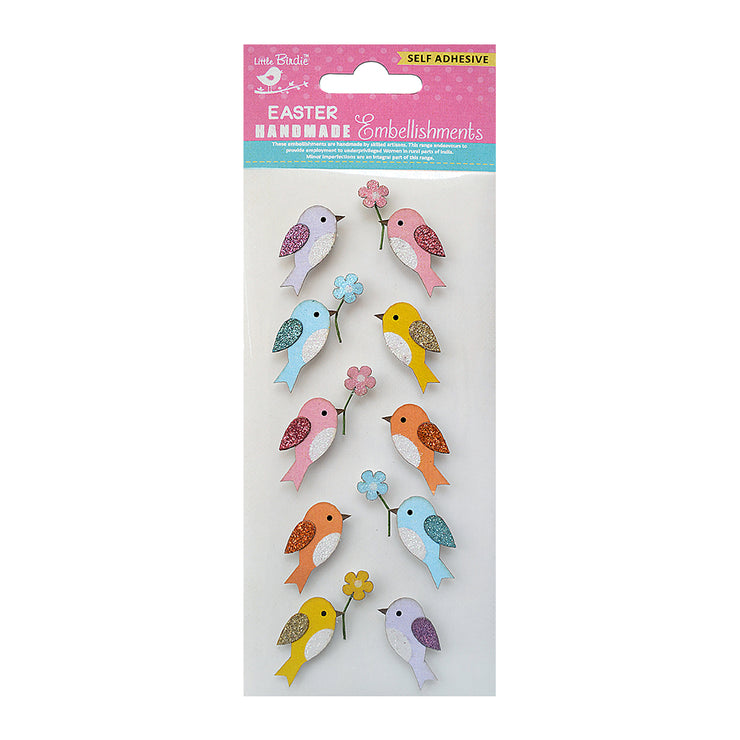 Self Adhesive - Joyful Birdies 10pc