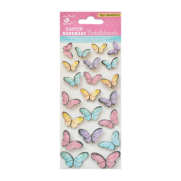 Beautiful Butterflies Embellishments 21pc