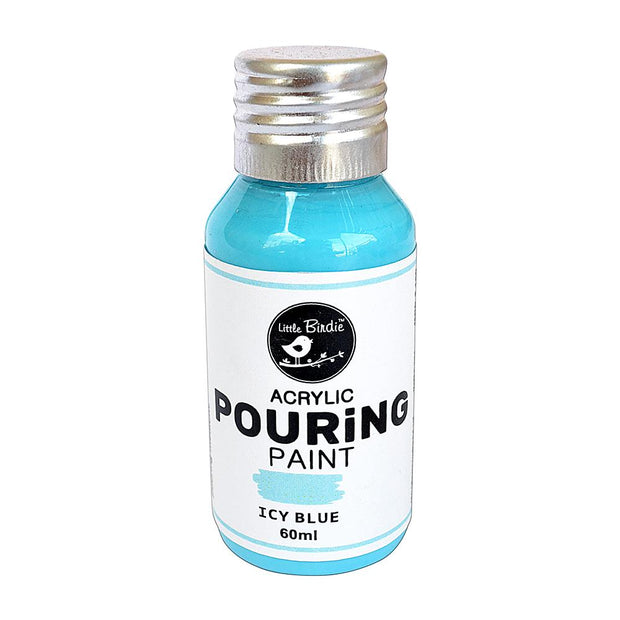 Acrylic Pouring Paint - Icy Blue, 60ml