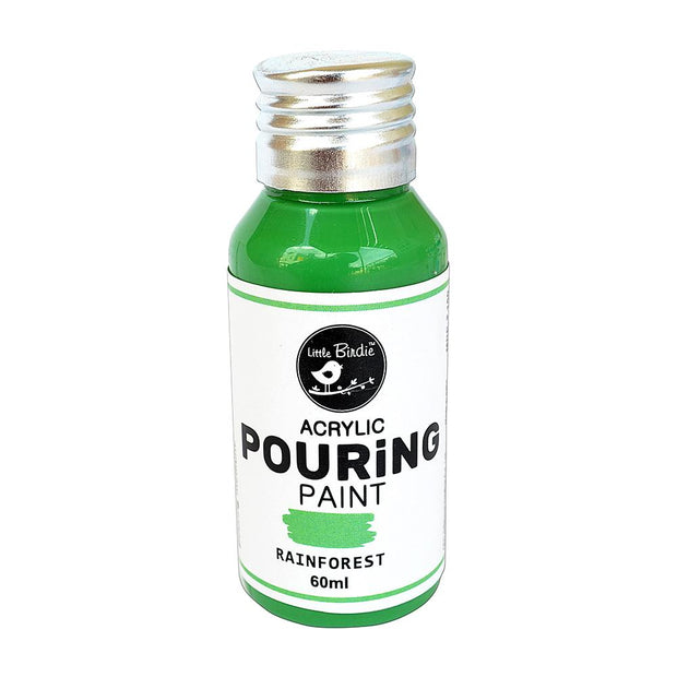 Acrylic Pouring Paint- Rainforest, 60ml