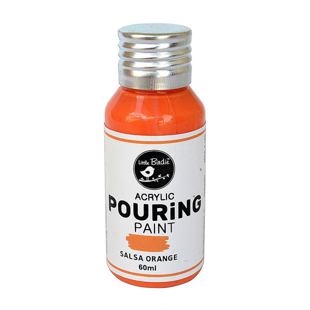 Acrylic Pouring Paint- Salsa Orange, 60ml