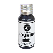 Acrylic Pouring Paint- Black Pepper, 60ml