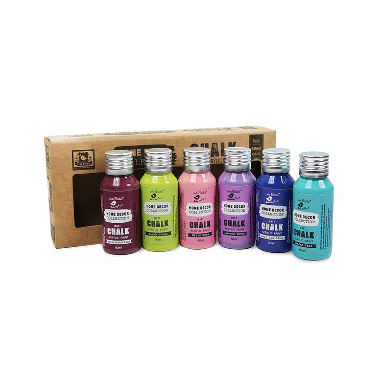 Home Decor Chalk Paint Set- Bright Shades 60ml  6pc