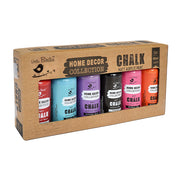 Home Decor Chalk Paint Set - Vibrant, 60ml Each, 6pc