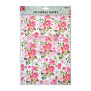 Decoupage Paper A4 - Blossoming Elegance 2 Designs, 2 Sheets Each