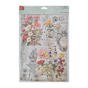 Decoupage Paper A4 - Wild Blossom / Cottage Garden 2 Designs, 2 Sheets Each