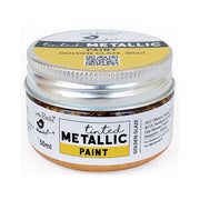 Tinted Metallic Paint- Golden Glaze, 50ml