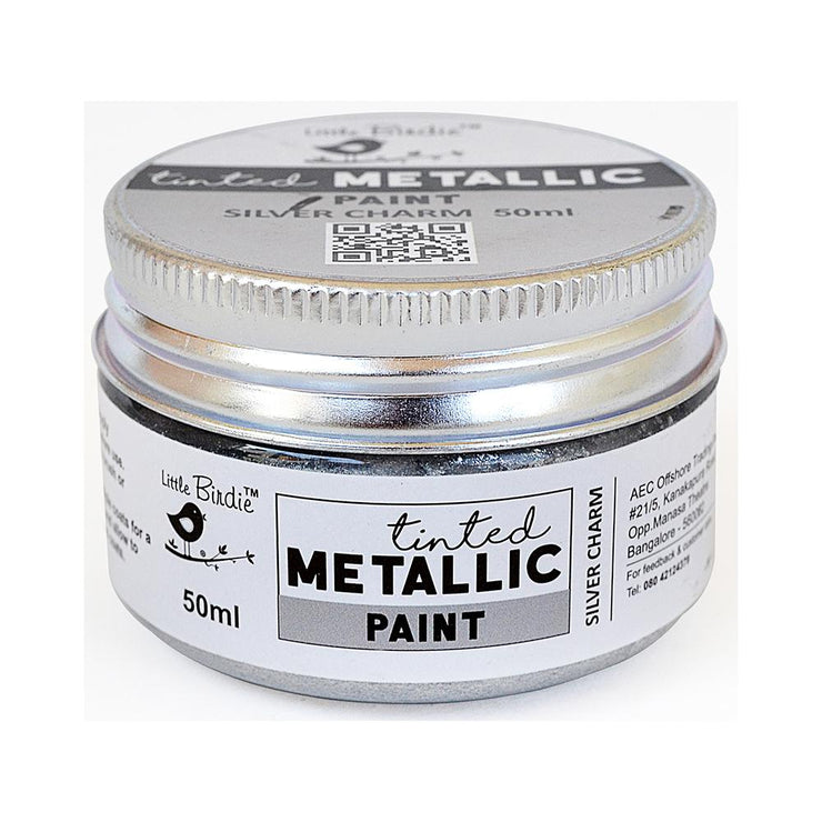 Tinted Metallic Paint- Silver Charm, 50ml