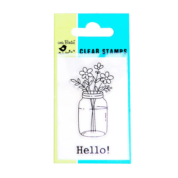 Clear Stamps - Hello, 2pc