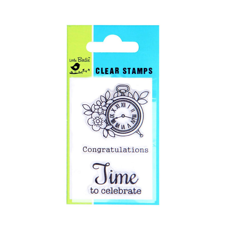 Clear Stamps - Time to celebrate, 3pc