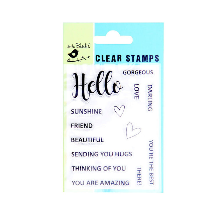 Clear Stamps - Thinking of you, 14pc