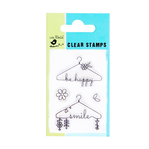 Clear Stamps - Be Happy, 4pc