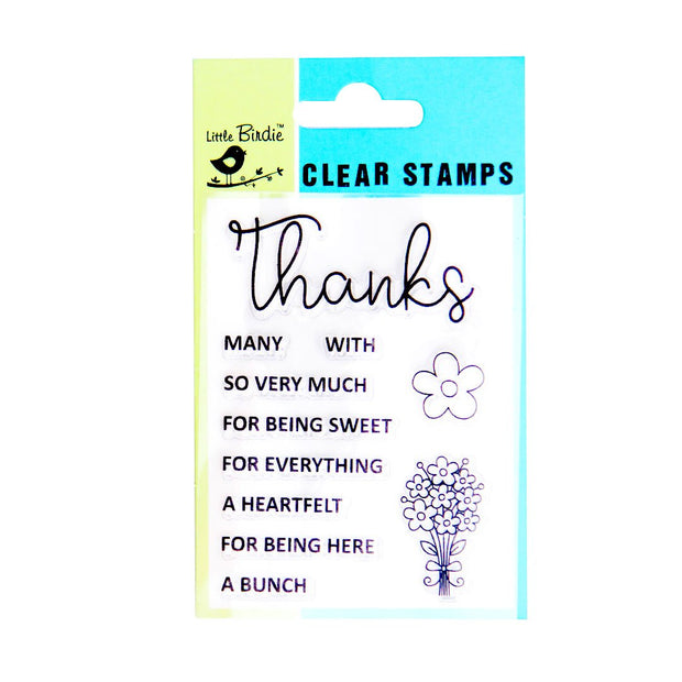 Clear Stamps - Thanks a bunch, 11pc