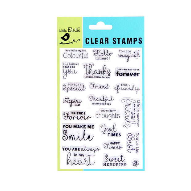 Clear Stamps - Thankful, 21pc