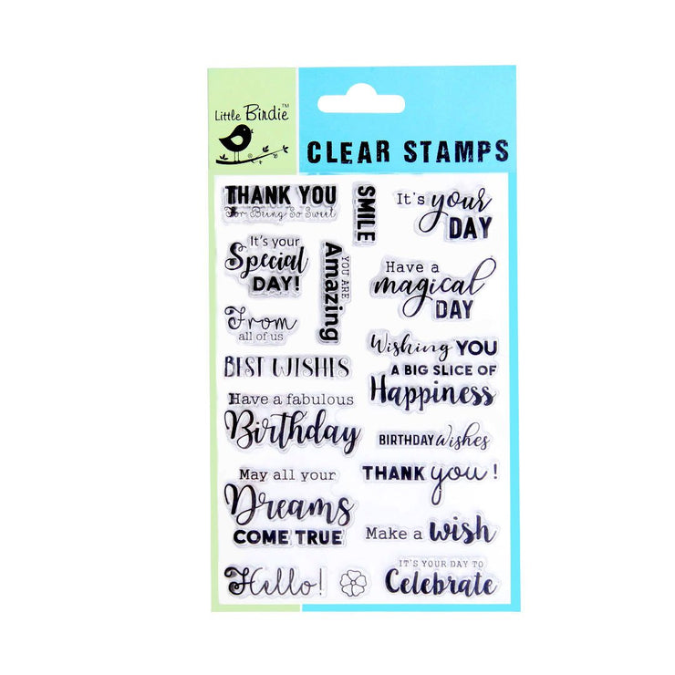 Clear Stamps - Make a wish, 17pc