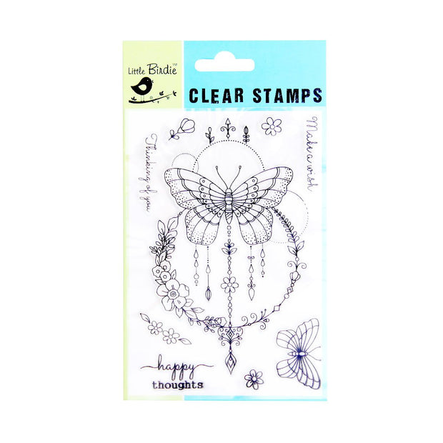 Clear Stamps - Happy Thoughts, 9pc