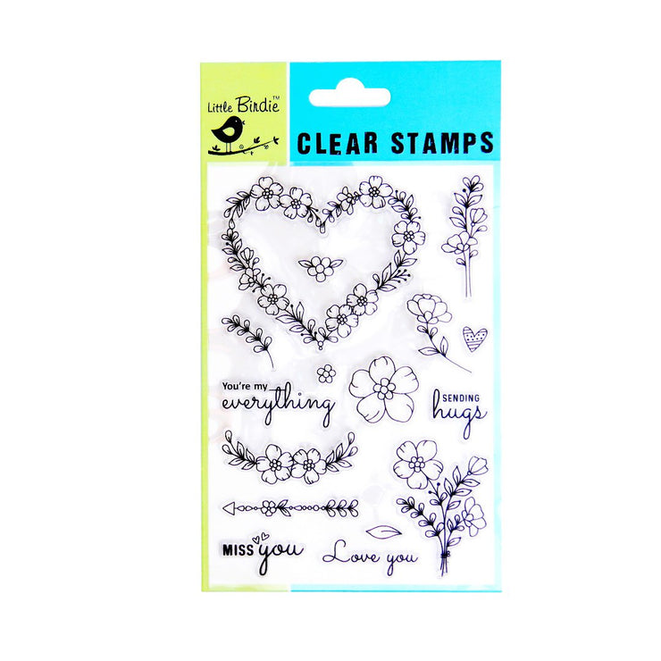 Clear Stamps - Love always, 16pc