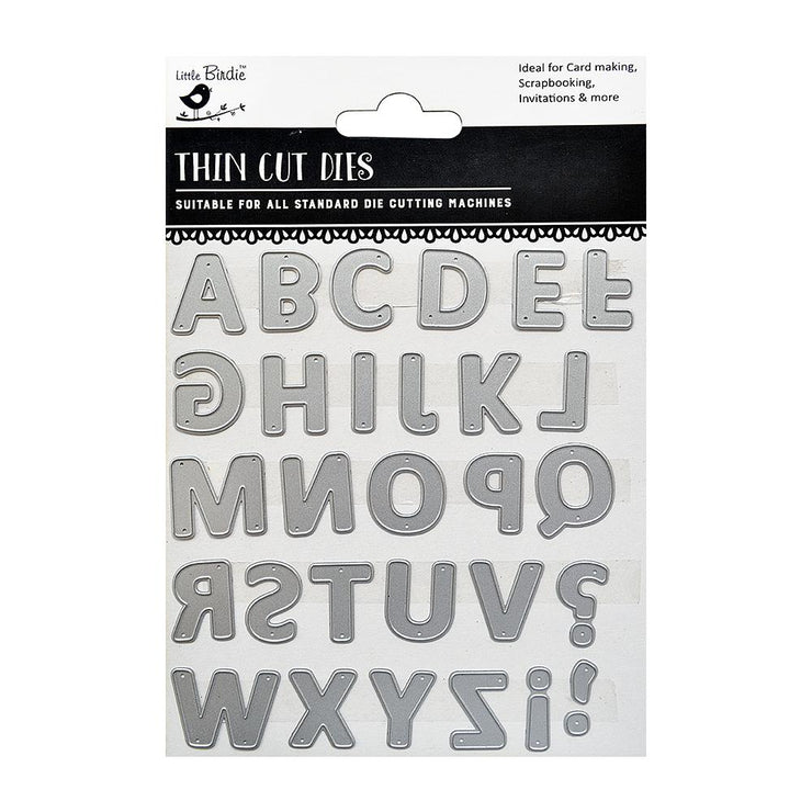 Thincut Metal Dies Set - Alphabet Fun, 30pc