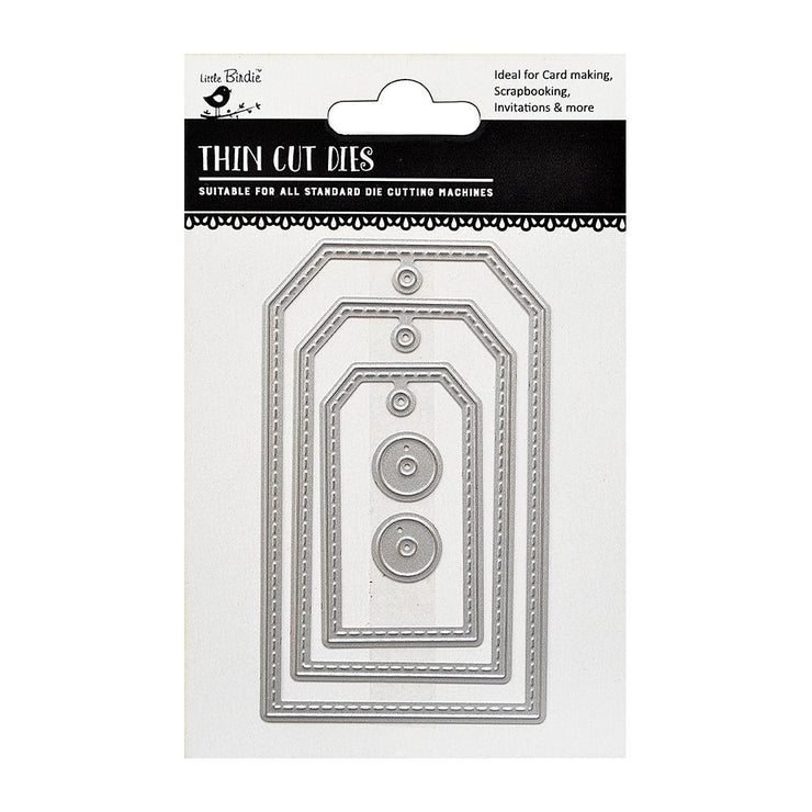 Thincut Dies - Tags, 5pc