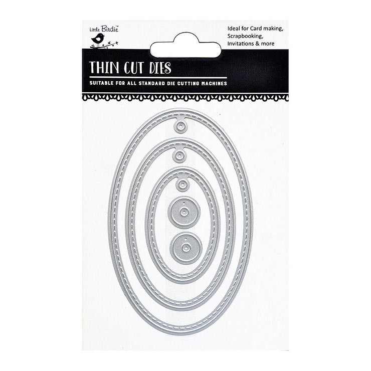 Thincut Dies - Oval Tags, 5pc