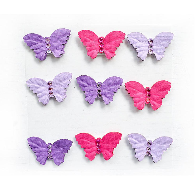 Jewel Butterfly Birds And Berries 9pc