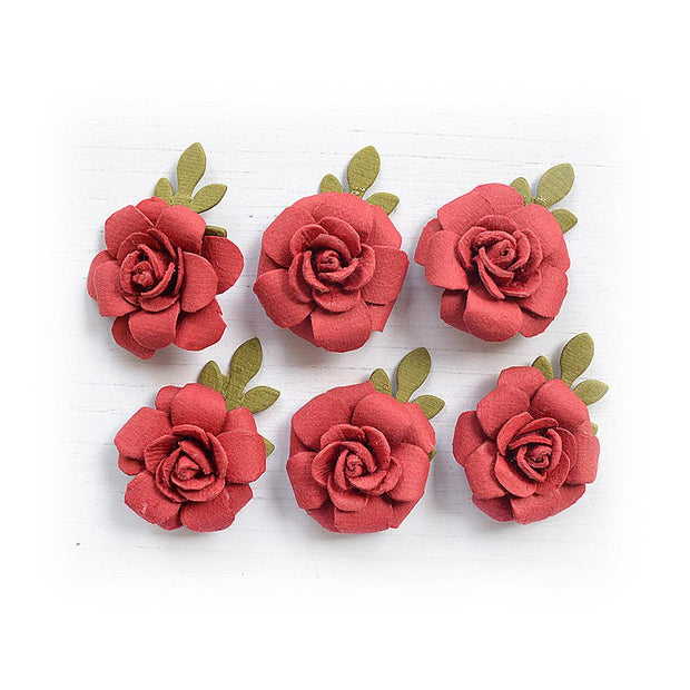 Little Birdie Handmade Flower - Amica Love and Roses 6pc
