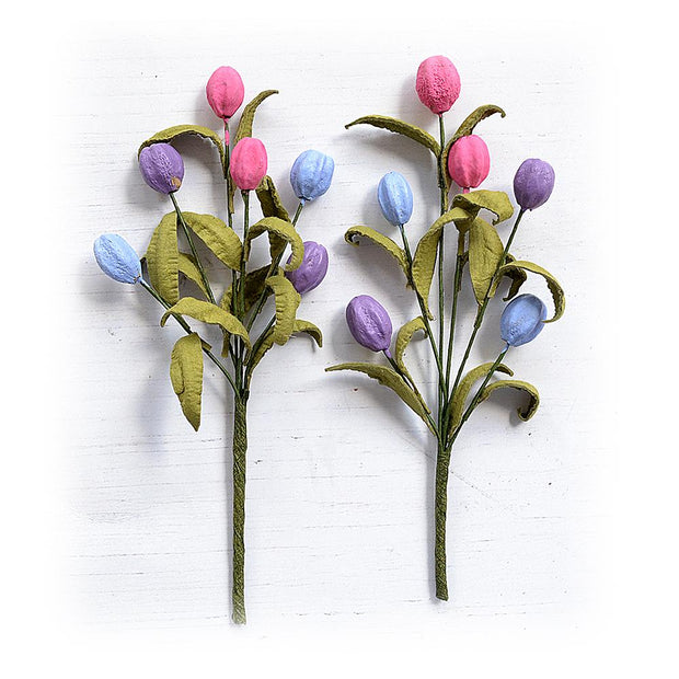Tulip Bouquet Birds And Berries 2pc