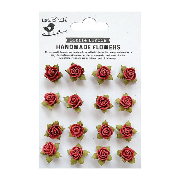 Little Birdie Handmade Flower - Micro roses Love and Roses 16pc