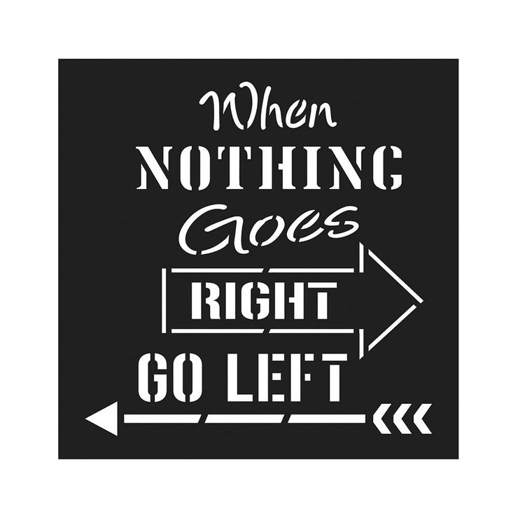 Stencil - Go Left, 4 x 4in, 1pc