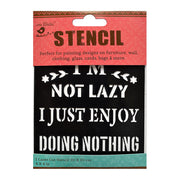 Stencil - Enjoy Doing Nothing, 4 x 4in, 1pc