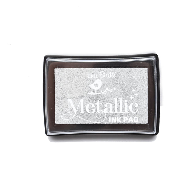 Metallic Ink Pad- Silver Dust, 1pc