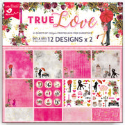 "True Love Collection -Printed Cardstock Pack  6""X6"", 24 Sheets"