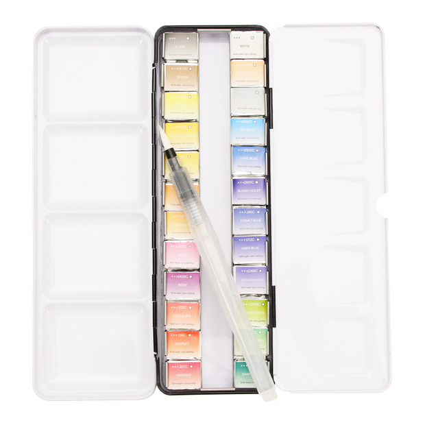 Watercolor Half Pan Set 24 Colour